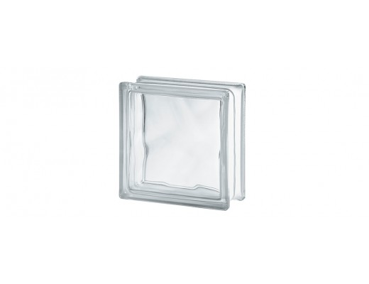 Bloco de Vidro Transparente 19 cm x 19 cm - Wave