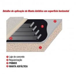 Fita Asfáltica Aluminizada Auto Adesiva - 05 cm x 10 m