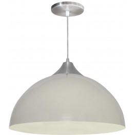 Luminária Pendente Alumínio Gota 16 Pol - Branco