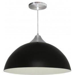 Luminária Pendente Alumínio Gota 16 Pol - Preto