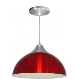 Luminária Pendente Alumínio Gota 12 Pol - Vermelho
