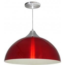 Luminária Pendente Alumínio Gota 16 Pol - Vermelho