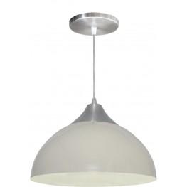 Luminária Pendente Alumínio Gota 12 Pol - Branco