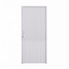 Porta Sanfonada Em PVC 0,60 x 2,10 m - Cinza Claro